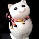 白潟八洲彦の福猫 cat TOBEYAKI white porclelain