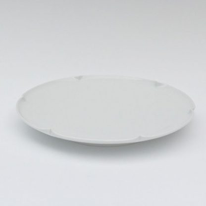 砥部焼 白潟八洲彦 白磁 皿 TOBEYAKI  white porclelain