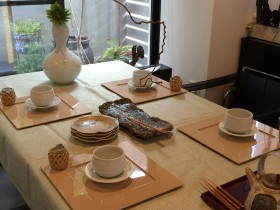 ほうじ茶とおはぎのお茶の時間 (3)