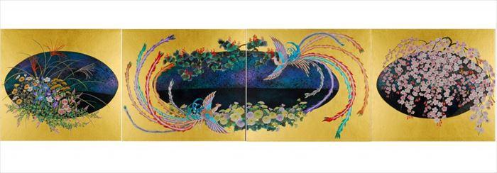 京都大徳寺養徳院襖絵「瑞兆の図」2