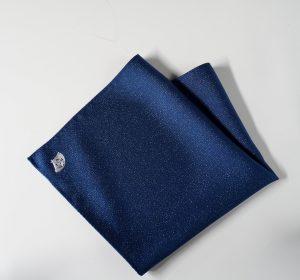 高級 織物 TOKUNARI 宝石  エレガント 洗練 上質 ポケットチーフ KYOTO 青 フォーマル パーティ