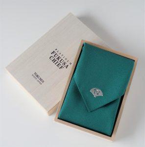 高級 織物 TOKUNARI 宝石  エレガント 洗練 上質 ポケットチーフ KYOTO 緑 フォーマル パーティ