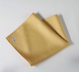 高級 織物 TOKUNARI 宝石  エレガント 洗練 上質 ポケットチーフ KYOTO 黄色 フォーマル パーティ